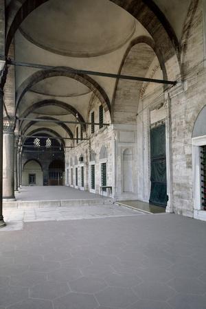 Turkey. Istanbul. Mihrimah Sultan Mosque. Ottoman Style.16th Century. Portico
