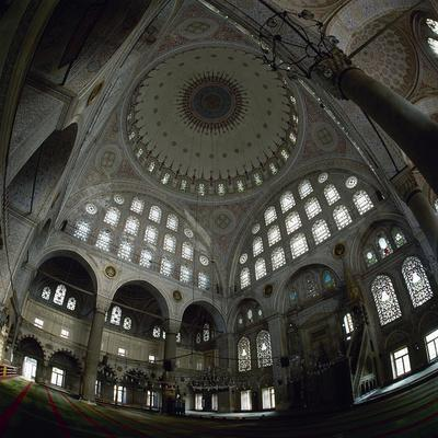 Turkey. Istanbul. the Mihrimah Sultan Mosque, Designed by Mimar Sinan. 1562-1565. Inside