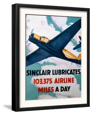 Sinclair Aircraft Motoroil Poster