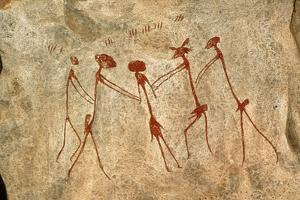 Cave Painting: Kolo Figures Depicting An Abduction by Sinclair Stammers