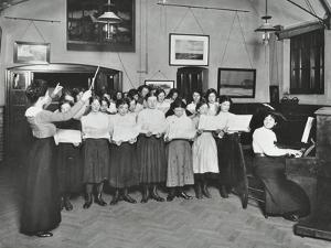 Singing Class, Laxon Street Evening Institute for Women, London, 1914