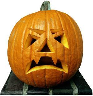 Single Jack O'Lantern Lifesize Standup