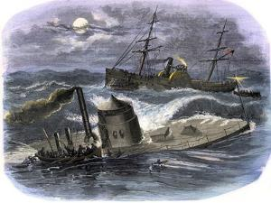 Sinking of the Ironclad USS Monitor in a Gale Off North Carolina, c.1862
