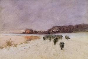 Winter at Loch Ard by Sir Alfred East