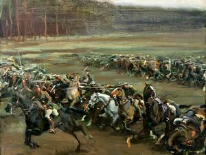 Charge of Flowerdew's Squadron, c.1918 by Sir Alfred Munnings