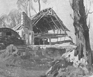 The Ruined Barn by Sir Alfred Munnings