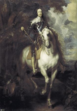 Charles I on Horseback by Sir Anthony Van Dyck