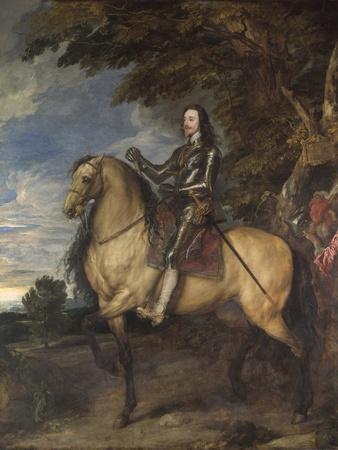 Equestrian Portrait of Charles I (1600-49) C.1637-38