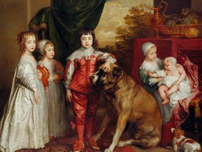 Five Eldest Children of Charles I, 1637 by Sir Anthony Van Dyck