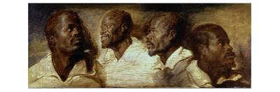 Four Negro Heads by Sir Anthony Van Dyck