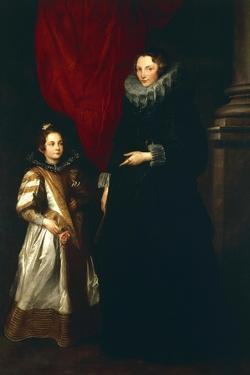 Geronima Brignole Sale with Her Daughter, 1627 by Sir Anthony Van Dyck