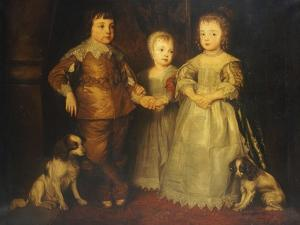 Group Portrait of the Children of King Charles I, Full Length by Sir Anthony Van Dyck
