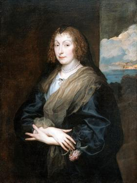 Portrait of a Woman with a Rose, Between 1635 and 1639 by Sir Anthony Van Dyck
