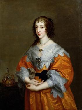 Portrait of Queen Henrietta Maria (1609-69) by Sir Anthony Van Dyck