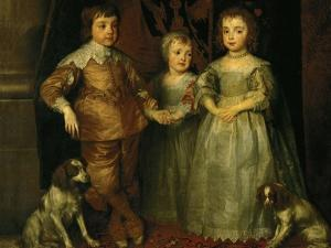 Portraits of the Three Eldest Children of Charles I, King of England by Sir Anthony Van Dyck