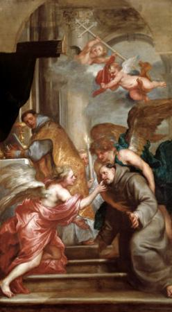 The Communion of St. Bonaventure by Sir Anthony Van Dyck