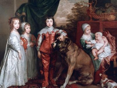 The Five Eldest Children of Charles I,1637 by Sir Anthony Van Dyck