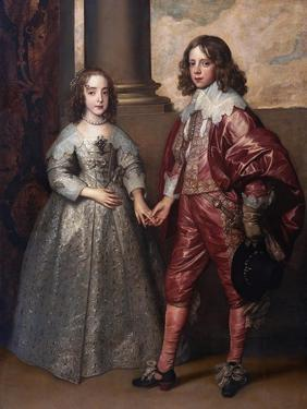 William II, Prince of Orange, and His Bride, Mary Henrietta Stuart, First Third of 17th C by Sir Anthony Van Dyck