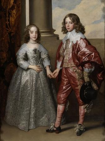 William Ii, Prince of Orange, and His Bride, Mary Stuart, 1641 by Sir Anthony Van Dyck