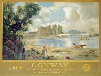 Conway Castle, Poster Advertising the London, Midland and Scottish Railway, c.1930
