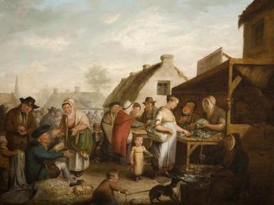 The Scottish Market Place, 1818