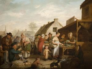 The Scottish Market Place, 1818 by Sir David Wilkie