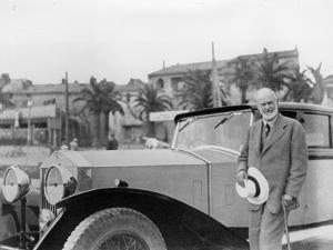 Sir Henry Royce, with Rolls-Royce Car