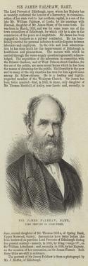 Sir James Falshaw, Baronet, Lord Provost of Edinburgh