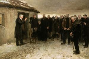 A Highland Funeral, 1882 by Sir James Guthrie