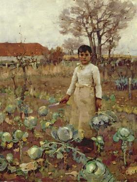 A Hind's Daughter, 1883 by Sir James Guthrie