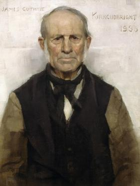 Old Willie - the Village Worthy, 1886 by Sir James Guthrie