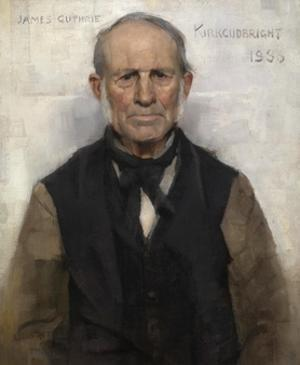 Old Willie - the Village Worthy by Sir James Guthrie
