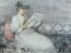 The Morning Paper, c.1890-91 by Sir James Guthrie