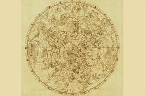 Celestial Map of the Mythological Heavens with Zodiacal Characters by Sir John Flamsteed
