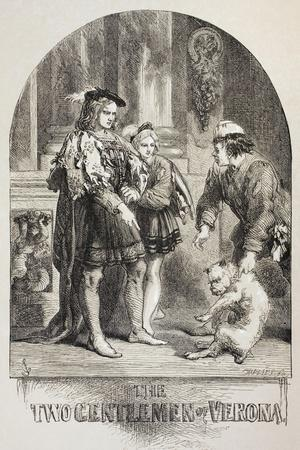 Illustration for the Two Gentlemen of Verona, from 'The Illustrated Library Shakespeare',…