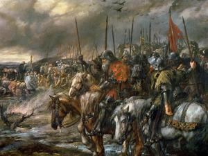 Morning of the Battle of Agincourt, 25th October 1415, 1884 by Sir John Gilbert