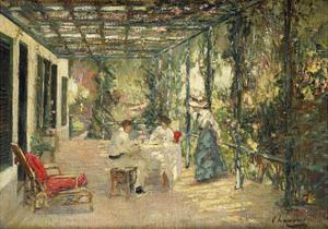 Breakfast on the Terrace by Sir John Lavery