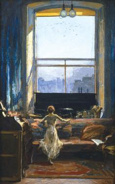 Daylight Raid from My Studio Window by Sir John Lavery