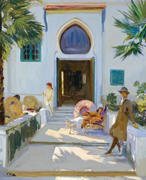My Studio Door, Tangier by Sir John Lavery