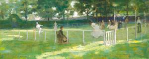 Sketch For The Tennis Party by Sir John Lavery