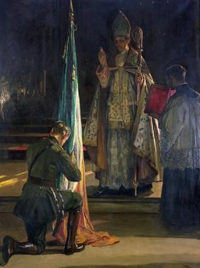 The Blessing of the Colours, 1922 by Sir John Lavery