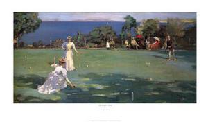 The Croquet Match by Sir John Lavery