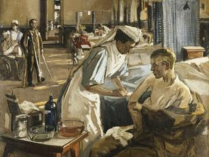 The First Wounded, London Hospital, 1914, 1914 by Sir John Lavery