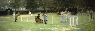 The Tennis Match, 1885