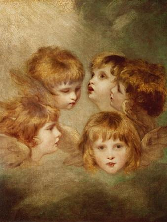 A Child's Portrait In Different Views: Angel's Heads, 1787