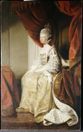 Portrait of Queen Charlotte, Full Length, Seated in Robes of State