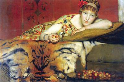 A Craving for Cherries by Sir Lawrence Alma-Tadema