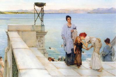 A Kiss by Sir Lawrence Alma-Tadema