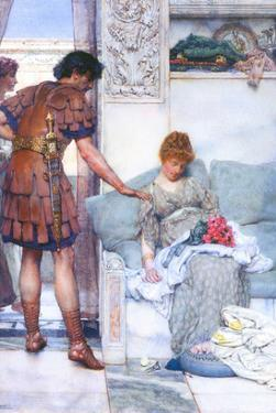 A Quiet Greeting by Sir Lawrence Alma-Tadema