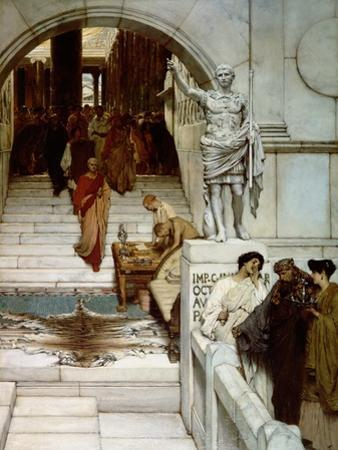 An Audience at Agrippa's, 1875 by Sir Lawrence Alma-Tadema